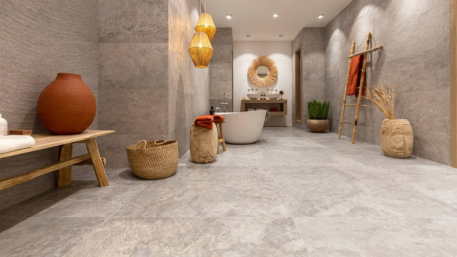 Affordable, high-quality floor and wall tiles in sizes, colours & materials for a practical, durable, totally individual new room.